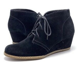 Franco Sarto Ankle Suede Wedge Booties